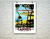 AZSTEEL Cannes Poster - Vintage French Riviera Travel Print