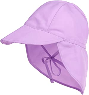 LACOFIA Chapeau de Soleil pour bébé garçons ou Filles Bonnet de Plage d'été pour Enfants Casquette à Rabat Ajustable Douce...