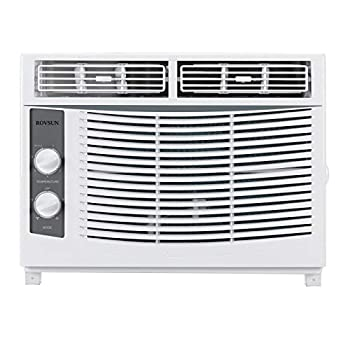 ROVSUN 5000 BTU Window Air Conditioner Energy Saving AC Unit with Mechanical Controls Ideal for Rooms up to 150 Square Feet 110V/60Hz White