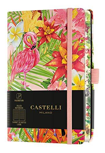 Castelli Milano EDEN Flamingo Notebook 9x14 cm Notebook a righe Copertina Rigida 192 Pag