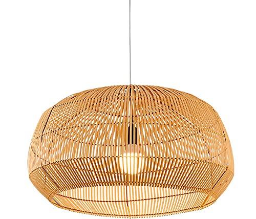 Fine Asianliving Lámpara de Techo Colgante de Bambú Cincha Hecha a Mano - Amanda D.63xA35cm Lámpara de Bambú lámpara colgante de bambú iluminación de Suspensión de bambú