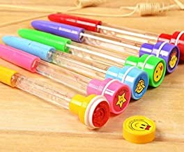 tecmac New 4 in 1 Bubble Pen Stamper with light for kids - Pack of 24 - Birthday party Return Gifts for Kids