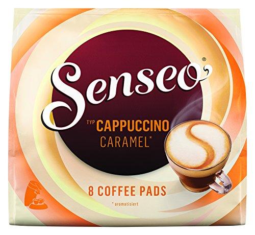 Senseo Pads Cappuccino Caramel, 80 Kaffeepads, 10er Pack, 10 x 8 Getränke