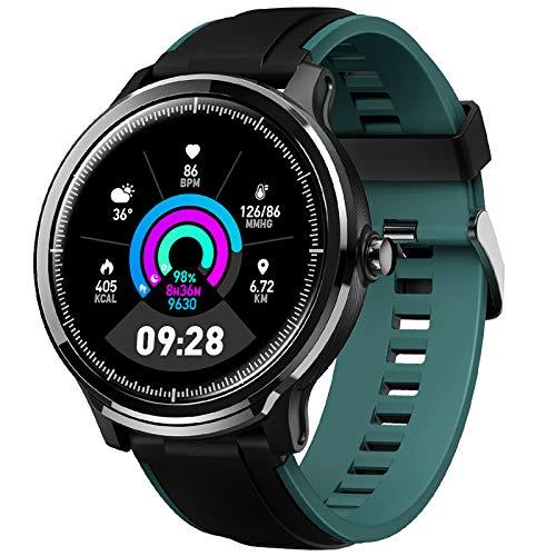 GOKOO Bluetooth Smartwatch Hombre Reloj Inteligente Impermeable IP68 Actividad Monitor Pulsómetro Compatible con Android y iOS