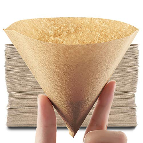 Coffee Filter #2 Cone Paper and V60 Disposable Coffee Filter 2-4 Cup Size Fit for Pour Over Coffee Drippers
