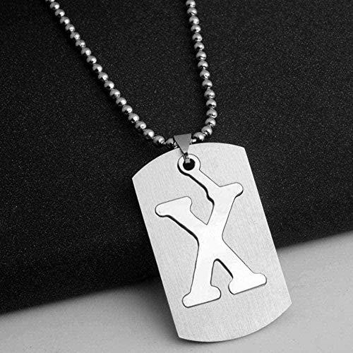CXYCXY Co.,ltd Collar con Colgante de Collar con Letras Simples para Mujeres, Hombres, joyería, Regalo, Letras, Nombre, Collar, suéter Personalizado, Accesorios, Regalo
