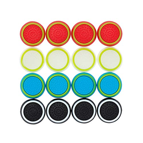 Thumb Stick Grips Caps Cover Replacement for PS4 PS3 PS2 Xbox One/360 /Game Controller/ Silicone Analog Controller Joystick/ 8 Pairs/16 Pcs