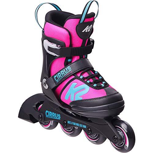 K2 Skates Mädchen Inline Skate Cirrus Girl — pink - Light Blue — M (EU: 32-37 / UK: 13-4 / US: 1-5) — 30E0490