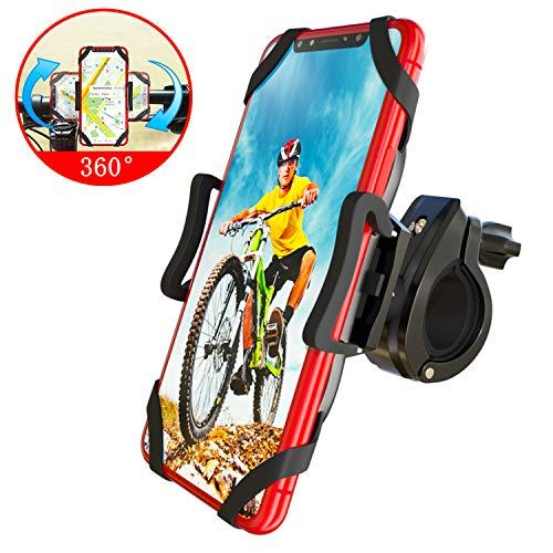 CNYMANY Fahrrad Handyhalterung, 360°Drehbare Handyhalter Fahrrad, Universal Handyhalterung Motorrad für alle 3.5-6.5 Zoll Handys, iPhone 11 Pro Max/X/XR/XS MAX/8/7 Plus, Samsung Galaxy S20