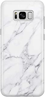 uCOLOR Case Compatible for Samsung Galaxy S8 White Gray Marble Slim Shockproof Luxury Fashion Silicone Soft Rubber TPU Protective Case for Galaxy S8