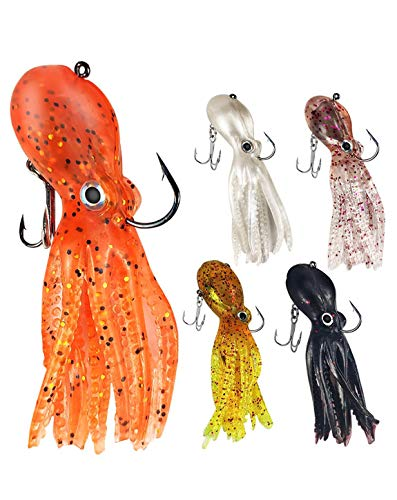 Octopus Swimbait Soft Fishing Lure with Skirt Tail
