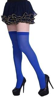 ZRDY 1 Par Otoño Mujeres Niñas sobre La Rodilla Calcetín Color Sólido Muslo Medias Altas Traje Negro Calcetines hasta La Rodilla (Color : 11, Size : One Size)