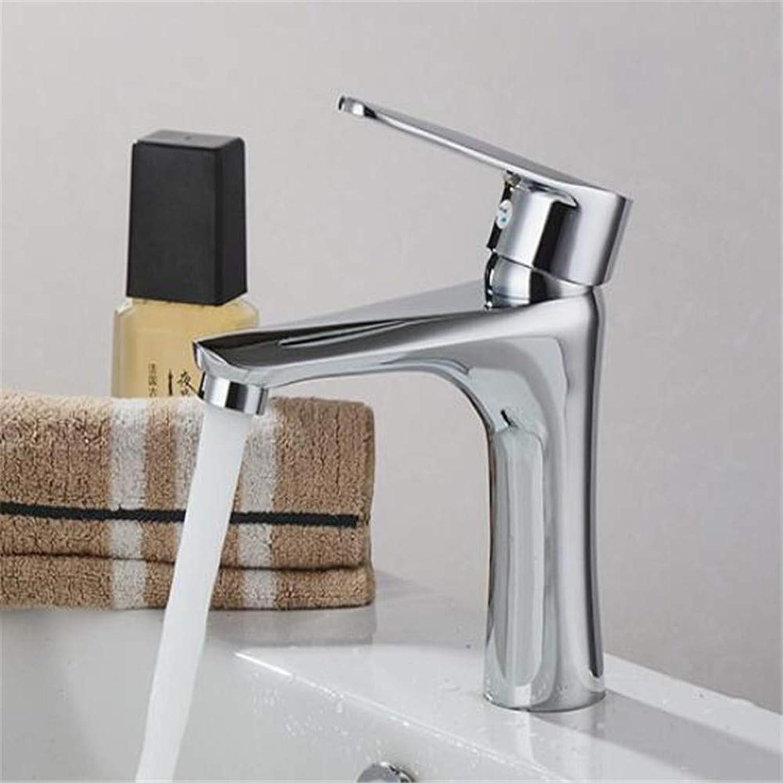 Faucetbasin Mixer Tap Copper Washbasin Washbasin Faucet Single Hole Hot and Cold Basin Mixing Basin Water Tap.