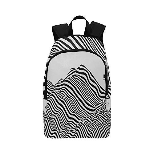 NQEONR Bag for Hiking Beautiful Natural Mountain Range Durable Water Resistant Classic Back Bag Hiking Men Bookbag Light Backpack Best Daypack
