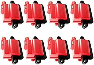 REV Ignition High Performance Ignition Coil Set of 8 compatible with GM Square Type Coil 12558693 1999-2009