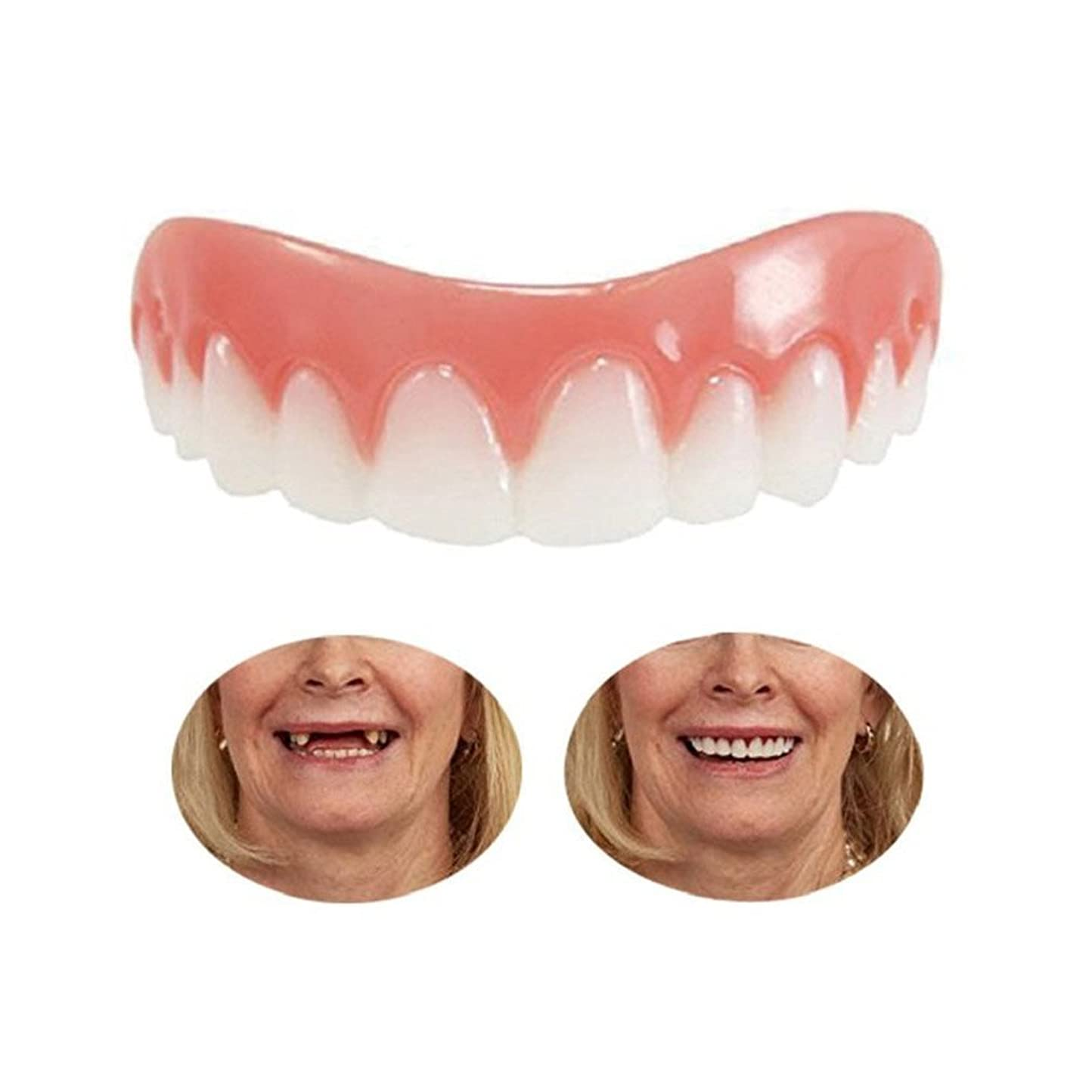 ランダム失態けん引3組の一時的な化粧品の歯の義歯の歯の化粧品によって模倣されるブレース、即刻の快適で完全なベニヤの歯のスナップキャップを白くします