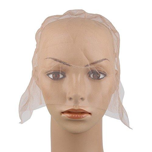 Beauty7 Wig Cap Filet Capuchon Casquette de Base avec Sangle Reglable Chapeau pour Bricolage Extension de Cheveux Crochet Tissage Filet A Cheveux Bonnet Perruque Deguisement DIY Mesh Dome Cap