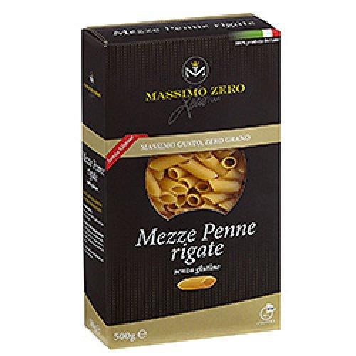 MASSIMO ZERO PASTA SECCA 1 KG SENZA GLUTINE, TAGLIO MEZZE PENNE RIGATE