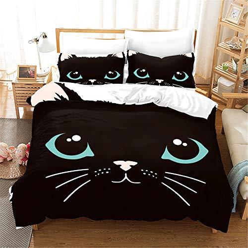 NYLIN Bettbezug Katzenkopf Bettbezug-Set...