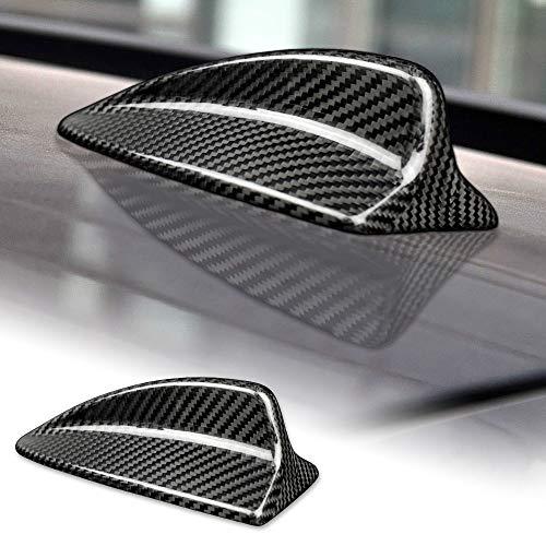 AIRSPEED Carbon Fiber Car Shark Fin Antenna Cover Radio Signal Base for BMW E91 X1 E84 Accessories (Black)