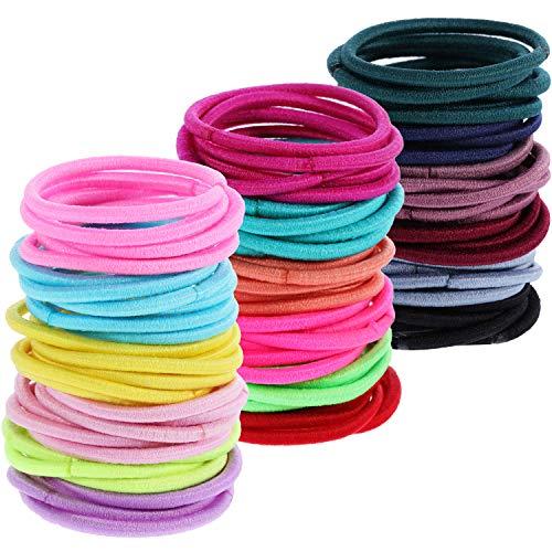 200 Pièces Petit Bébé Filles Cravates de Bandes de Cheveux Multicolore Cheveux Bande de Cheveux Élastique Porte-Queue de Cheval, 2.5 cm de Diamètre (2