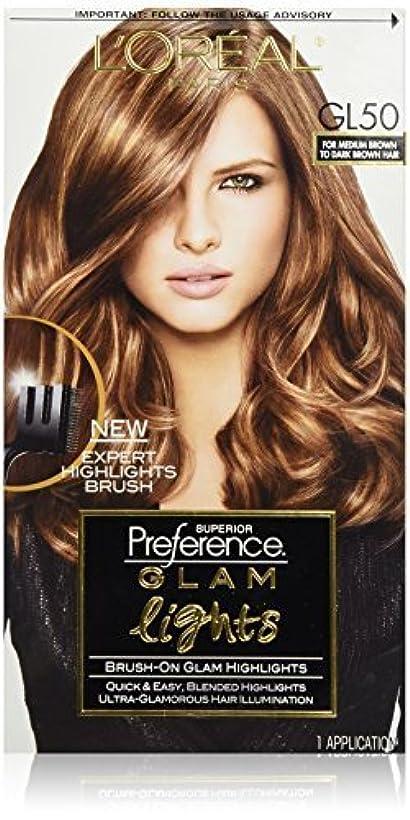 買い物に行く世代あごL'Oreal Paris Superior Preference Glam Lights Brush-On Glam Highlights, GL50 Medium Brown to Dark Brown [並行輸入品]
