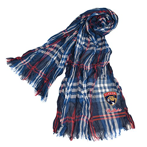 Littlearth NHL Florida Panthers Plaid Crinkle Scarf