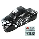 Redcat Racing BS801-017 Semi Truck Body (1/8 Scale, Black/Silver)