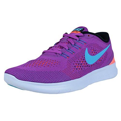 Nike Free Run, Damen Laufschuhe, Violett (Hyper Volt/Gamma Blue Black TotalcrimsonHyper Volt/Gamma Blue Black Totalcrimson), 36 EU