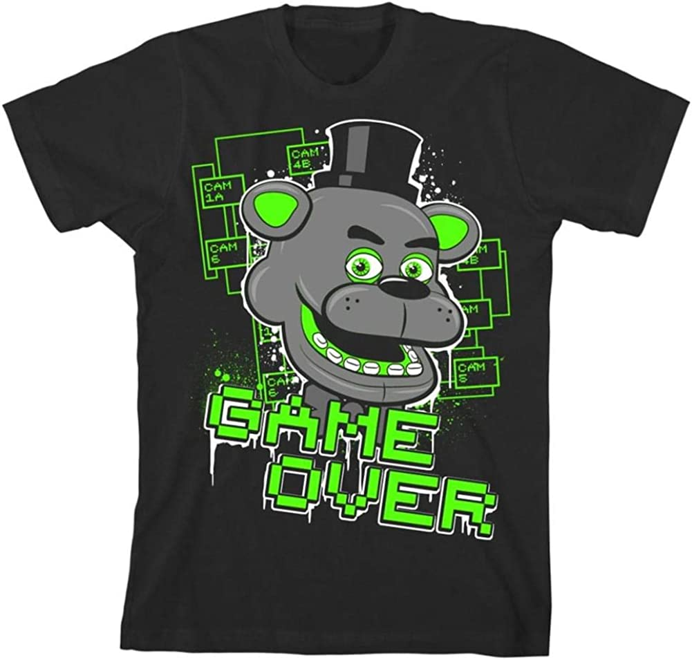 Five Nights at Freddy's Game Over Manufacturer OFFicial shop shipfree Boy's T-Shirt Black