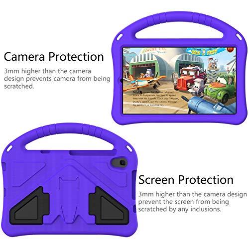 QYiD Kinder Schutzhülle für Lenovo Tab M8 HD/Smart Tab M8/Tab M8 FHD 2019, Ultra Leicht Handgriff Handle Schutzhülle mit Kickstand für Lenovo M8 8.0