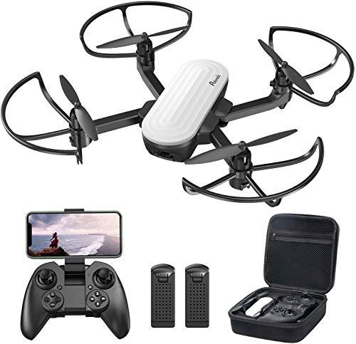 Potensic Drone Pieghevole con Fotocamera 2K Quadricottero FPV con Due Batterie 20 Minuti Volo, Sensore di Gravità, Controllo Gestuale, Flusso Ottico, Modalità Senza Testa, Volo Traiettoria