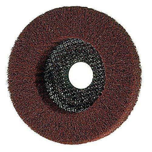 Chamois 125 x 22,2 tissu non-tissé, 3 Grains, pour métaux, Disque de molleton, Meule abrasive - grain fin