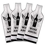 [UPGRADED PROTECTION] 4 Set (8 pcs) Reusable Wine Bags for Travel, Wine Travel Protector, Bottle...