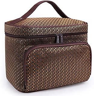 SODIAL Brown Diamond Big Capacity Women Cosmetic Bag Cosmetics Organizer Travel Necessaries Waterproof Makeup Bag Multifunction Toiletry Makeup Bag