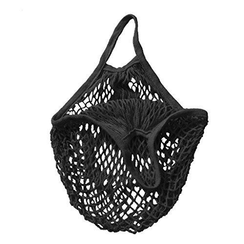 Einkaufsnetz Netze Tasche Kartoffelsack aus Bio-Baumwollschnur ver. Farbe - Schwarz