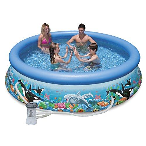 Intex 28125EH 10ft X 30in Ocean Reef Easy Set Pool Set with Filter Pump