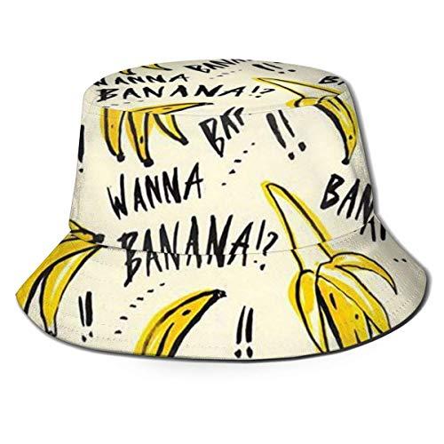 AJOR Sombrero de sol amarillo de plátano para hombres y mujeres, protección UV, camping, verano, flexible, duradero para adolescentes