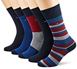 Tommy Hilfiger TH MEN BIRDEYE GIFTBOX 5P Chaussettes, Bleu (Tommy Original 085), 39/42 (Taille fabricant:039) (lot de 5) Homme