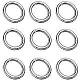 My-Bead 6 piezas anillas Ø 8mm hilo 1mm Ojales abiertos plata de ley 925 accesorios de joyería de calidad DIY