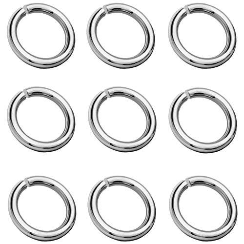 My-Bead 10 Stück Binderinge Biegeringe Ø 3mm 925 Sterling Silber für Schmuckherstellung Juweliers- Qualität DIY