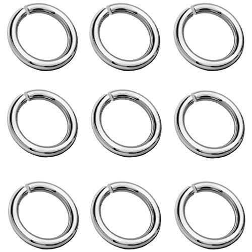 My-Bead Pack of 10 Jump Rings Diameter 3 mm 925 Sterling Silver for Jewellery Making Jewellers Quality DIY