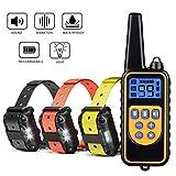 Havenfly Collar de Adiestramiento para Perros sin Descarga Eléctrica, Collar de Entrenamiento para Perros con Función de Vibración y Sonido, Remoto de 800m, Impermeable y Recargable (3 Perro)