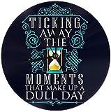 gardenia store Pink Floyd ticchettio los Momentos Que componen un Dull Day Redondo Reloj de Pared Home Decor 9.84'