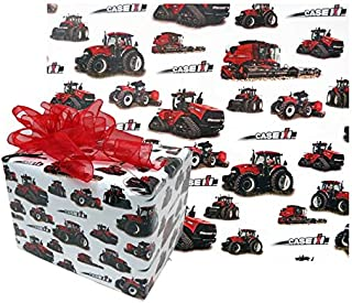 Case IH Gift Wrapping Paper w/ Tractors White