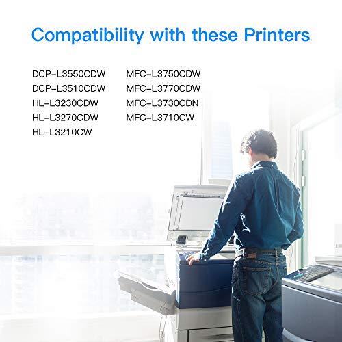 LxTek Cartuchos de Tóner Compatible para Brother TN247 TN-247 TN243 TN-243 para DCP-L3550CDW DCP-L3510CDW HL-L3210CW HL-L3230CDW HL-L3270CDW MFC-L3710CW MFC-L3730CDN MFC-L3750CDW MFC-L3770CDW