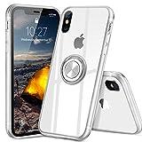 iPhoneX ケース iPhonexs ケース スマホリング カバー リング 透明 TPU クリア リング付き 回……
