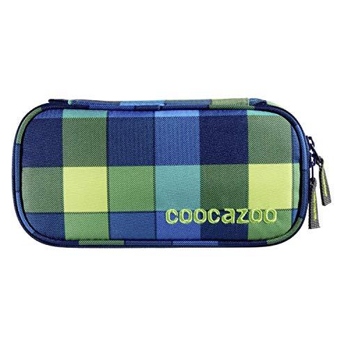 """Coocazoo Federmäppchen PencilDenzel """"Lime District"""" blau/Limette, Schlamperetui, Geodreieckfach, Stundenplanfach, herausnehmbarer Stiftehalter, zusätzliches Reißverschlussfach"""