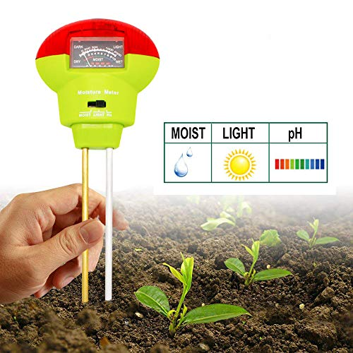 Best Prices! Soil Tester, Soil Moisture Meter 3-in-1 Easy-to-Read Soil Moisture pH Light Test Kit fo...