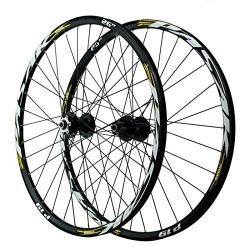 26/27.5/29'' Rueda Trasera para Bicicleta,Freno de Disco Llanta MTB de Doble Pared Primeros 2 Traseros 5 Rodamientos 12 Velocidades Liberación Rápida (Color : Black hub, Size : 29in)